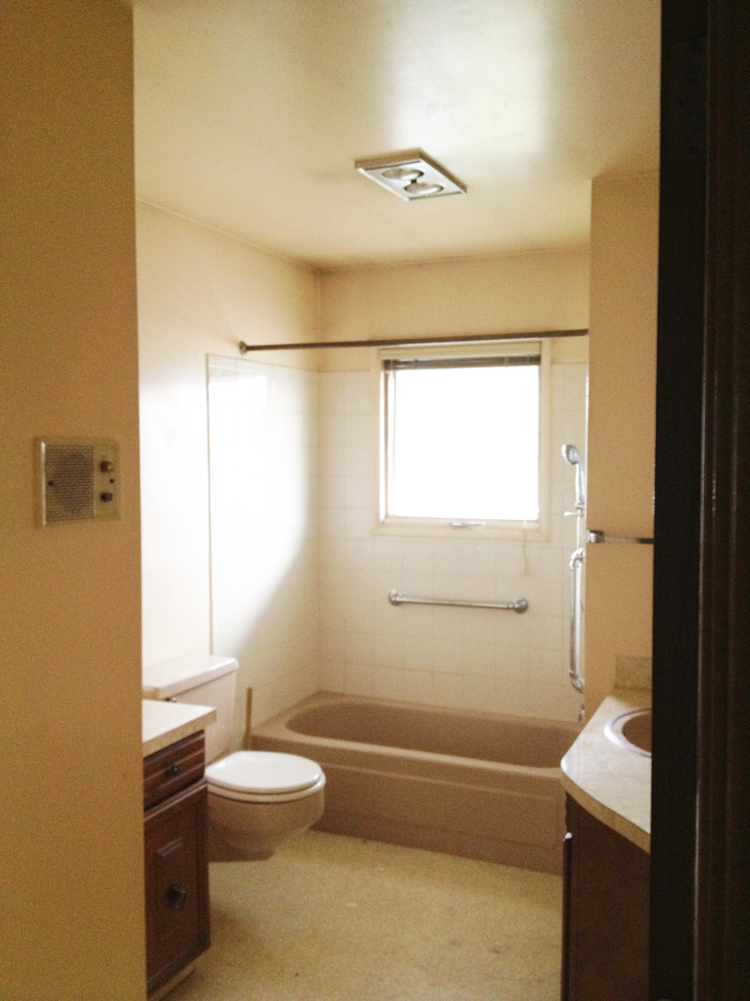 Before and After: Pink bathroom #2 goes family friendly
